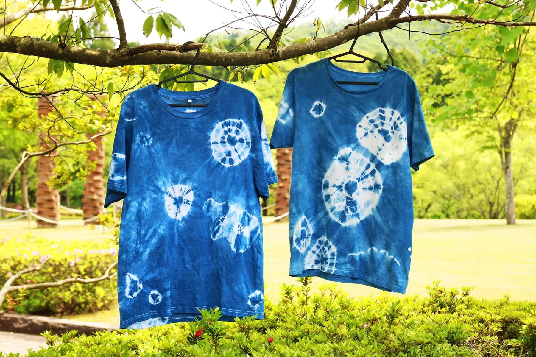 陶芸公園で藍染オリジナルTシャツを染めよう!